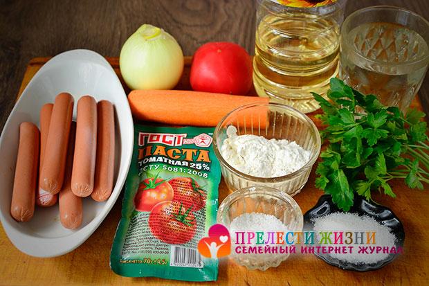 Как приготовить гречку с подливом и сосисками