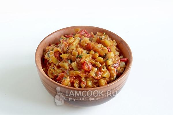 Рецепт кабачково-баклажанной икры по-восточному