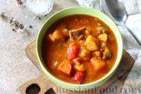 Фото к рецепту: Венгерский суп-гуляш из говядины