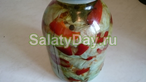 Самый простой рецепт салата на зиму