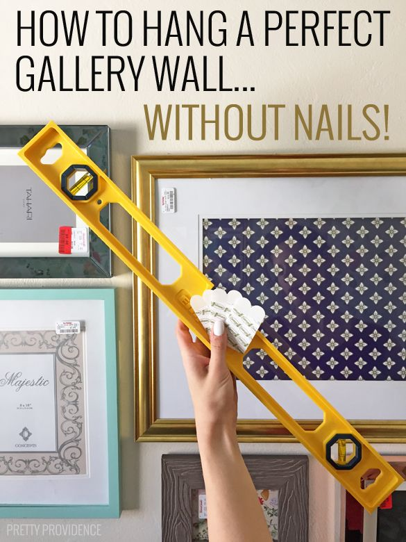 Hanging pictures on walls without nails