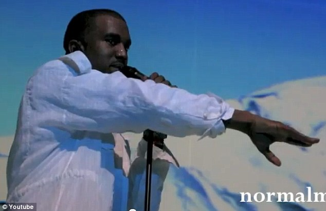 Shout out to his 'baby mama': Kanye made the announcement at this concert