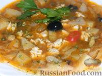 Фото к рецепту: Зимний суп-солянка из капусты
