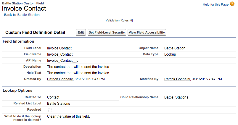Invoice contact