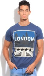 Pepe Jeans Printed Men s Round Neck Blue T-Shirt