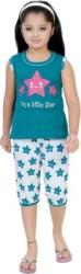 BE 13 Kids Nightwear Girls Self Design Cotton