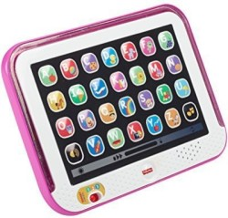 Fisher-Price Laugh & Learn Smart Stages Tablet, Pink (Multicolor)