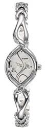 Espoir Floral Analog White Dial Women s Watch - ESP2546