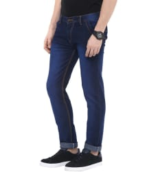 Urbano Fashion Blue Slim Fit Stretch Jeans
