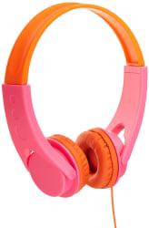 AmazonBasics Low Volume Kids  On-Ear Headphones  (Pink/Orange)