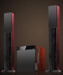 F&D T-400X Floorstanding Speaker (Bluetooth Speaker), red
