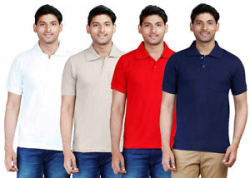 Details about  Fleximaa Mens Plain Collar Polo T-Shirt With Pocket (Pack of 4) - Low Price