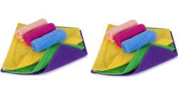 Cozier Enterprises Cotton Soft Face Towel - Set of 12 (FTCTES12), multicolor