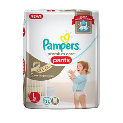Pampers New Premium Care Large Size Diapers Pants (38 Count)