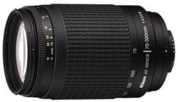 Nikon AF Zoom-Nikkor 70-300mm f/4-5.6G (4.3x) Lens, black