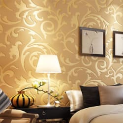 Details about  10M Damask 3D Embossed Textured Non-woven Wallpaper Rolls TV Background Decor
