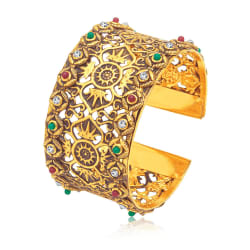 Sukkhi Royal Gold Plated Ad Kada For Women (12241KGLDPI550)