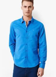 Blue Slim Fit Casual Shirt