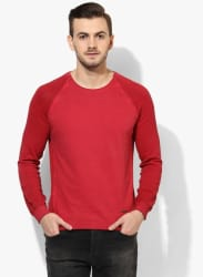 Red Full Sleeve Round Neck Sweater