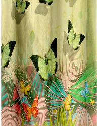 Cortina Butterfly Theme In Garden (DG-R-7FT), green