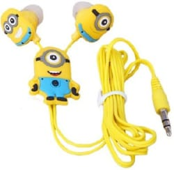 Happoz One Eye Minion Wired Headphone  (Multicolor, In the Ear)