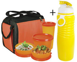 Details about  Oliveware Quick Carry Lunch Bag 4 Containers Lunch Box