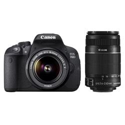 Canon 700D 18 MP DSLR Camera Kit (18-55 mm + 55-250 mm) (Black)