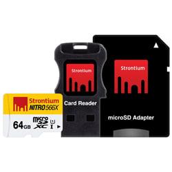 Strontium SRN64GTFU1C 3-in-1 64 GB 566X Speed NITRO MicroSD Card
