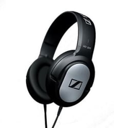 Details about Sennheiser HD 201 Dynamic Stereo Wired Headphones (Black, Over the Ear)