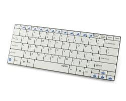 Rapoo E6100 Ultra-Slim Mini Bluetooth Keyboard (White)