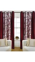 Super India Floral Mahroon Door Curtain 1 piece
