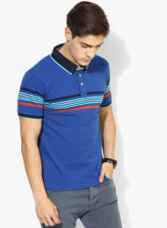 Sfida Blue Striped Polo T-Shirt