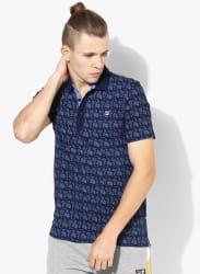 Molton Navy Blue Polo T-Shirt