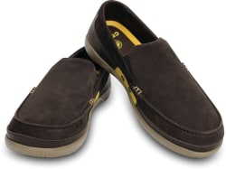 Crocs Walu Accent Suede M Loafers  (Brown)