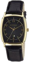 Titan Men s Analogue Black Dial Watch - 1486YL06