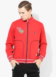 Pier Red Solid Sweatshirt