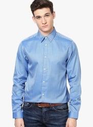 Dark Blue Slim Fit Casual Shirt