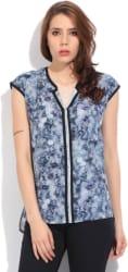 Lee Women s Printed Formal Grey Shirt