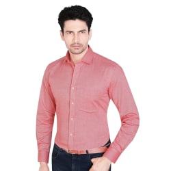 Trendbend Cotton Shirt For Men, xl, magenta red