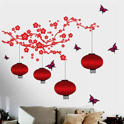 Decals Design  Chinese Lamps in Double Sheet  Wall Sticker (PVC Vinyl, 90 cm x 60 cm)