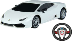 Toy House Officially Licensed 1:24 Lamborghini Huracan LP610-4 Rechargeable car with Gravity sensor steering Remote, White (White)