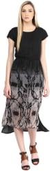 The Vanca Women s A-line Black Dress