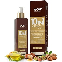 WOW 10-in-1 Active Miracle Hair Oil - No Parabens and Mineral Oils - 200 ml