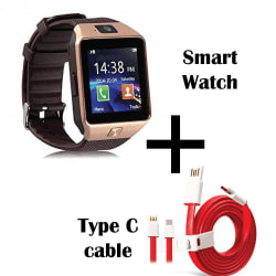 Hamee Wave Smartwatch With Free Type C Dash Charging Cable (821-smart019-54)