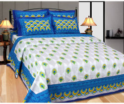 The Divine Floral Cotton Double Bedsheet With 2 Pillow Covers (TDIJPR001), multicolor