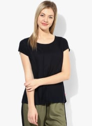 Navy Blue Solid Blouse