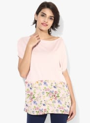 Pink Printed Blouse