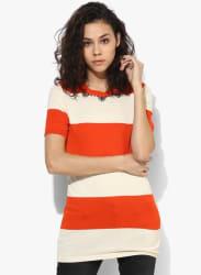 Orange Embellished Blouse