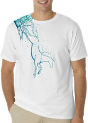 Designer Glass Horse Printed T Shirts For Men Graphic Tee