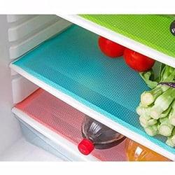 Kuber Industries Refrigerator Drawer Mats / Fridge Mats/ Multi Purpose Mats Set of 6 Pcs (Blue Material- Plastic)
